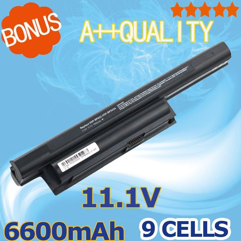 11,1 v 6600mAh Аккумулятор для ноутбука Sony BPS22 для VAIO VPC-EC4L1E VPC-E1Z1E VPC-EA1EA1AGJ EA16FA/P VPC-EB13FG VGP-BPS22