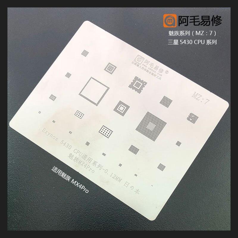 Para Meizu MX4 pro Exynos 5430 CPU/RAM de audio wifi emmc Chip BGA Stencil de soldadura reboleo de estaño calefacción 0,12 MM