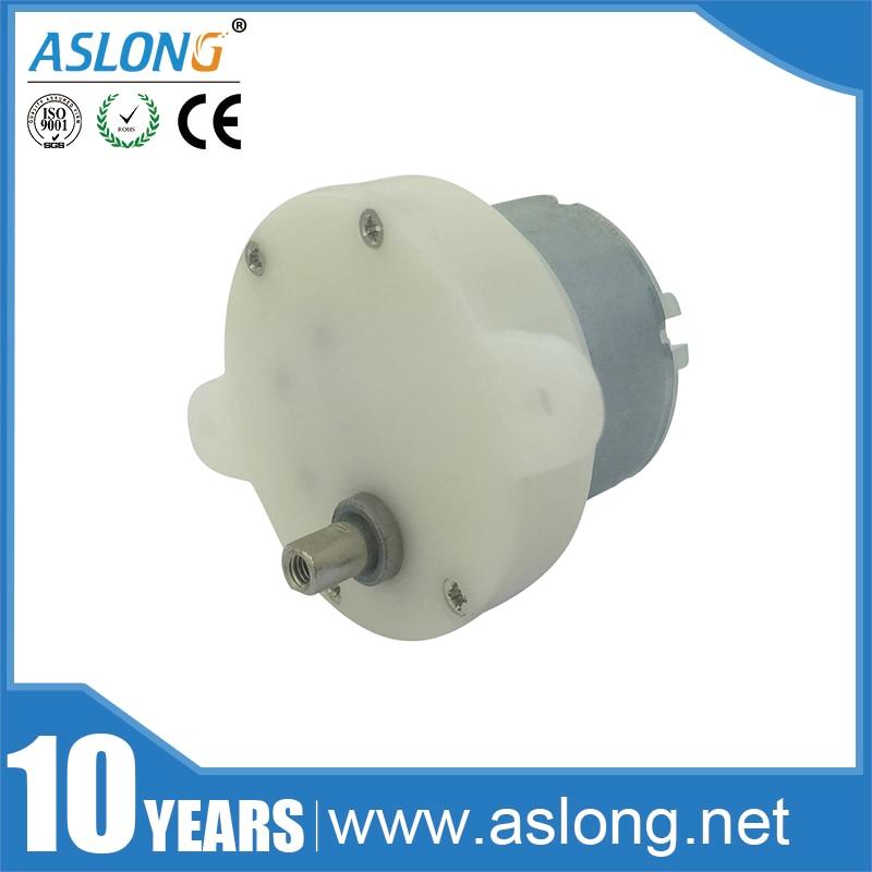 ASLONG 5rpm 10rpm diámetro eje 4mm JS40-500 12v 24v de dc engranaje motor
