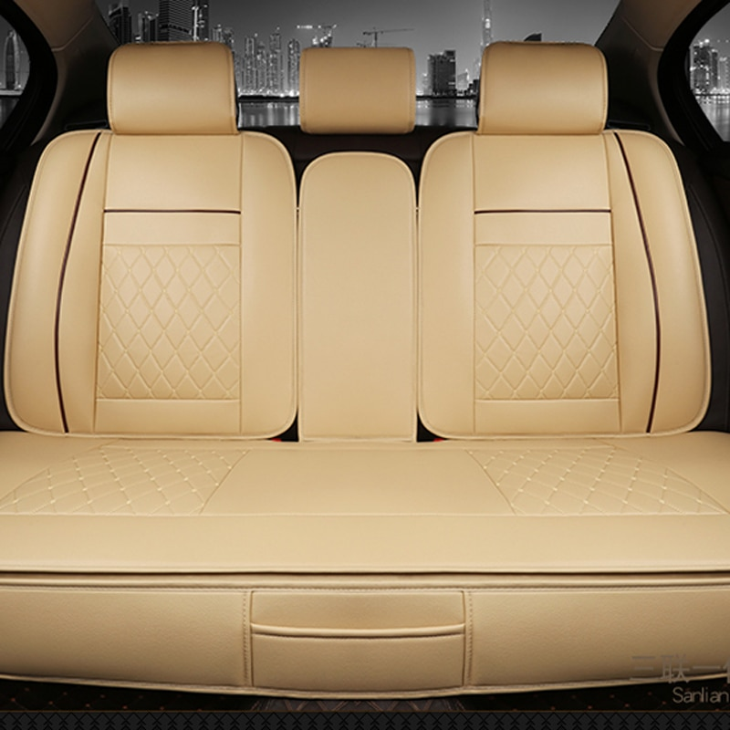 للماء الخلفي الخلفية سيارة مقعد يغطي العالمي بو الجلود وسادة حامي سادة حصيرة تناسب معظم اكسسوارات السيارات الداخلية