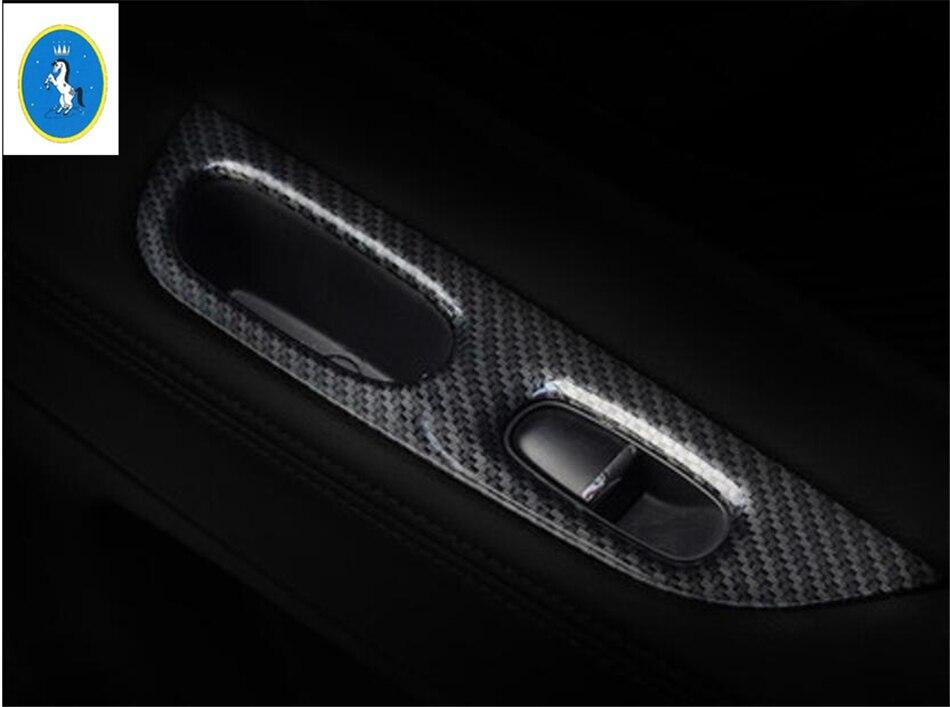 Yimaautotrims подлокотник стекло кнопка подъема крышка матовая углеродное волокно ABS Подходит для Nissan X-Trail X Trail Rogue T32 2014-2020
