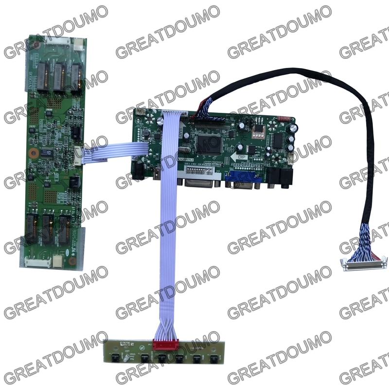 NT68676 Universal VGA DVI Audio HDMI-متوافق مع وحدة تحكم بشاشة إل سي دي المجلس ل M201EW01 V0 V1 1680x1050 LVDS مع HDMI-متوافق
