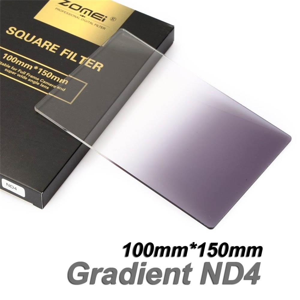 Neue Zomei Platz Filter 100mm x 150mm Graduated Neutral Dichte Grau GND ND4 100mm * 150mm 100x150mm für Cokin Z-PRO Serie Halter
