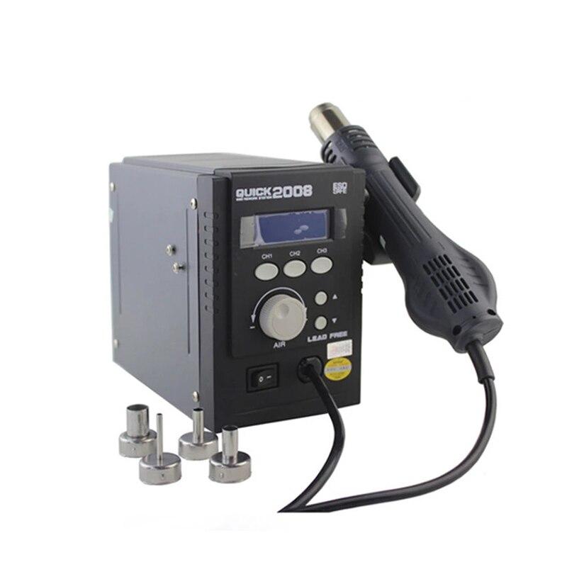 Оригинальный быстрый 2008 горячий воздух BGA паяльная станция 110 V 220 V Бессвинцовая Интеллектуальная цифровая паяльная станция для телефона SMD BGA Repai