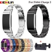 Metalen Band Voor fitbit lading 2 band strap Schroefloze Rvs Armband Voor Fitbit charge2 Polsbandjes Vervangen Accessoires