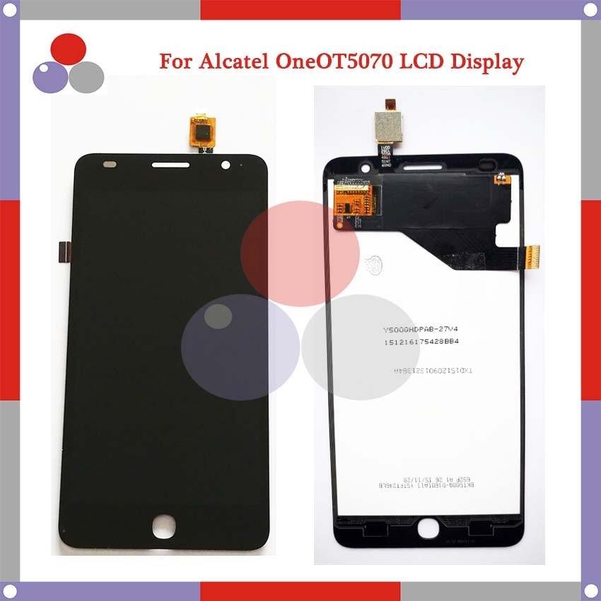 "10 unids/lote 5,0 ""para Alcatel One Touch Pop Star 4g OT5070 5070 LCD pantalla táctil digitalizador montaje piezas de repuesto"