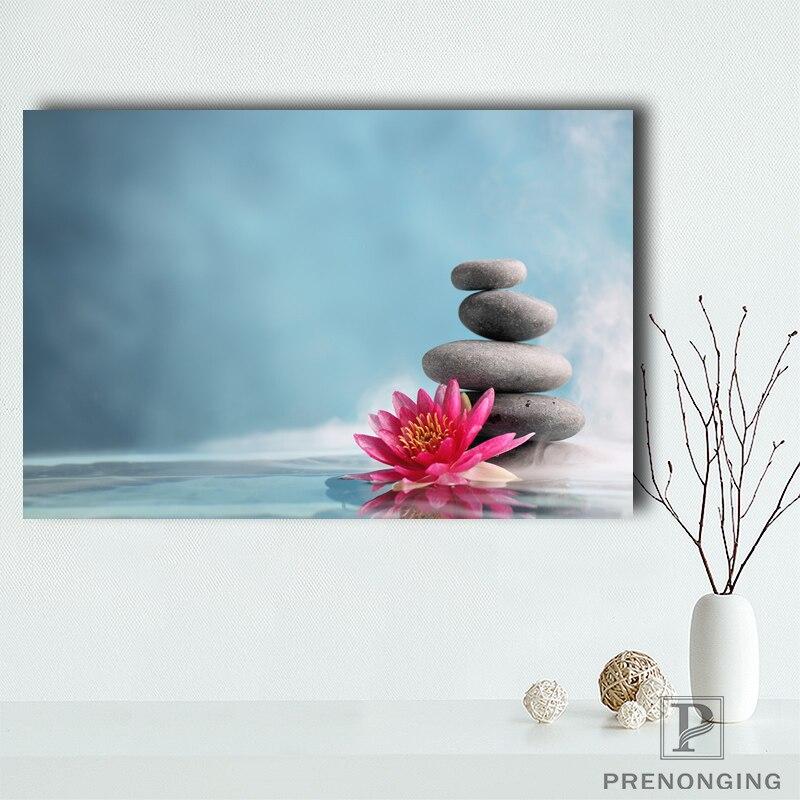 Póster de lienzo personalizado Zen Stone Posters tela pared arte cuadros para decoración de sala de estar #18-12- 05-05