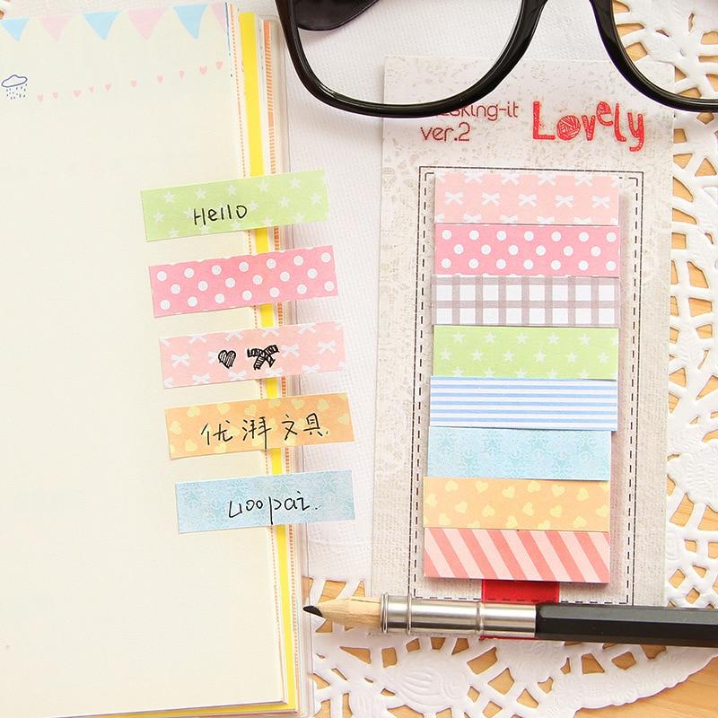 6 unids/lote, cinta adhesiva con puntos bonitos, etiqueta de índice, etiqueta de papelería, accesorios de oficina, suministros escolares F780