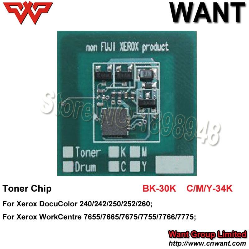DC242 DC252 DC260 006R90362 006R90363 006R90364 006R90365 toner chip für Xerox DocuColor C242 C252 C260 toner chip