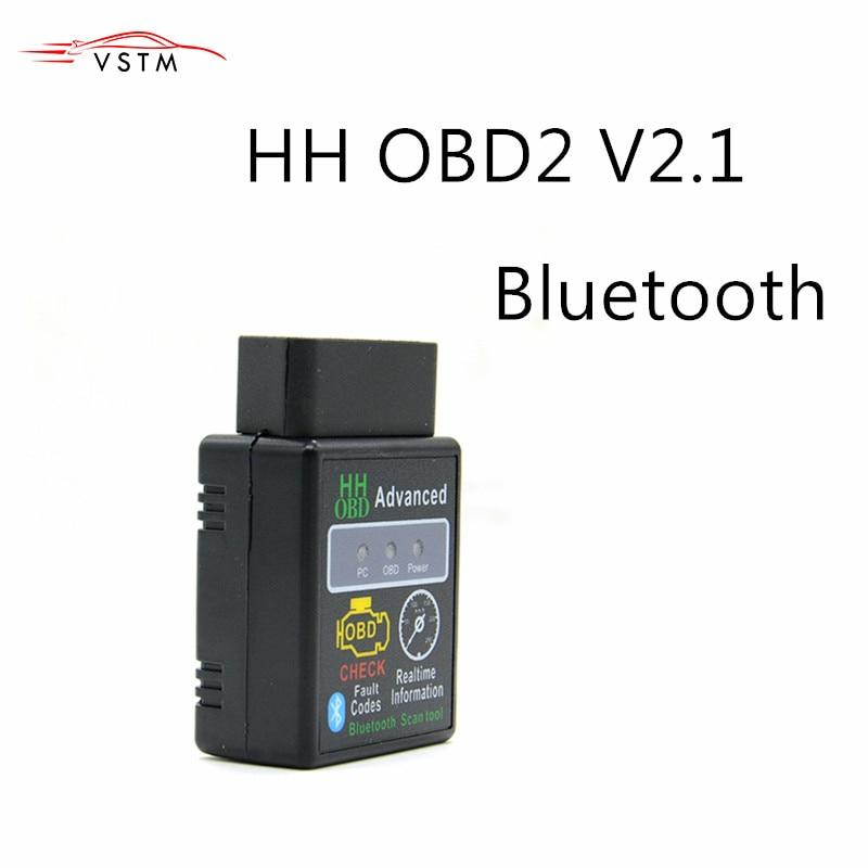 Mini ELM327 V2.1 Bluetooth HH OBD Advanced OBDII OBD2 ELM 327 Auto Car Diagnostic Scanner code reader scan tool hot selling
