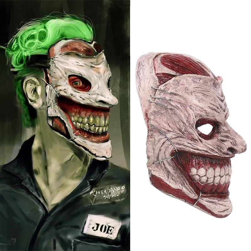¡Tipo FRP! máscara de Joker de 450g para Cosplay, máscara de Jack Napier, accesorios de disfraz de Batman de dibujos animados americanos