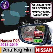 Nissan Navara NP300 D23   Film Anti-brouillard, pour rétroviseur, couverture complète, 2015 ~ 2020, accessoires pour Films 2016 2017 2018