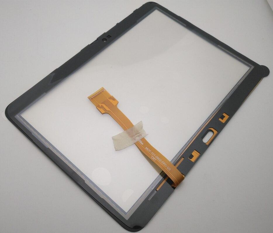 """10 pçs/lote 10.1 """"para samsung galaxy tab 4 t530 t531 t535 SM-T530 tela de toque digitador painel vidro peças reposição + ferramentas"""