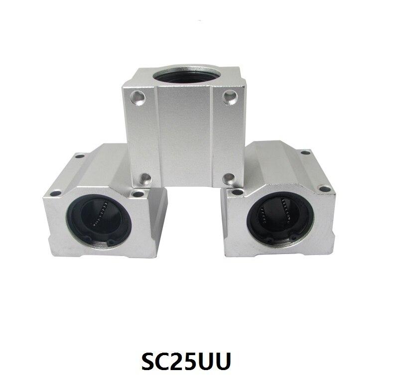 20 قطعة/الوحدة SC25UU/SMA25UU الخطي حالة/كتلة مباراة مع 25 مللي متر رمح خطي دليل SCS25UU