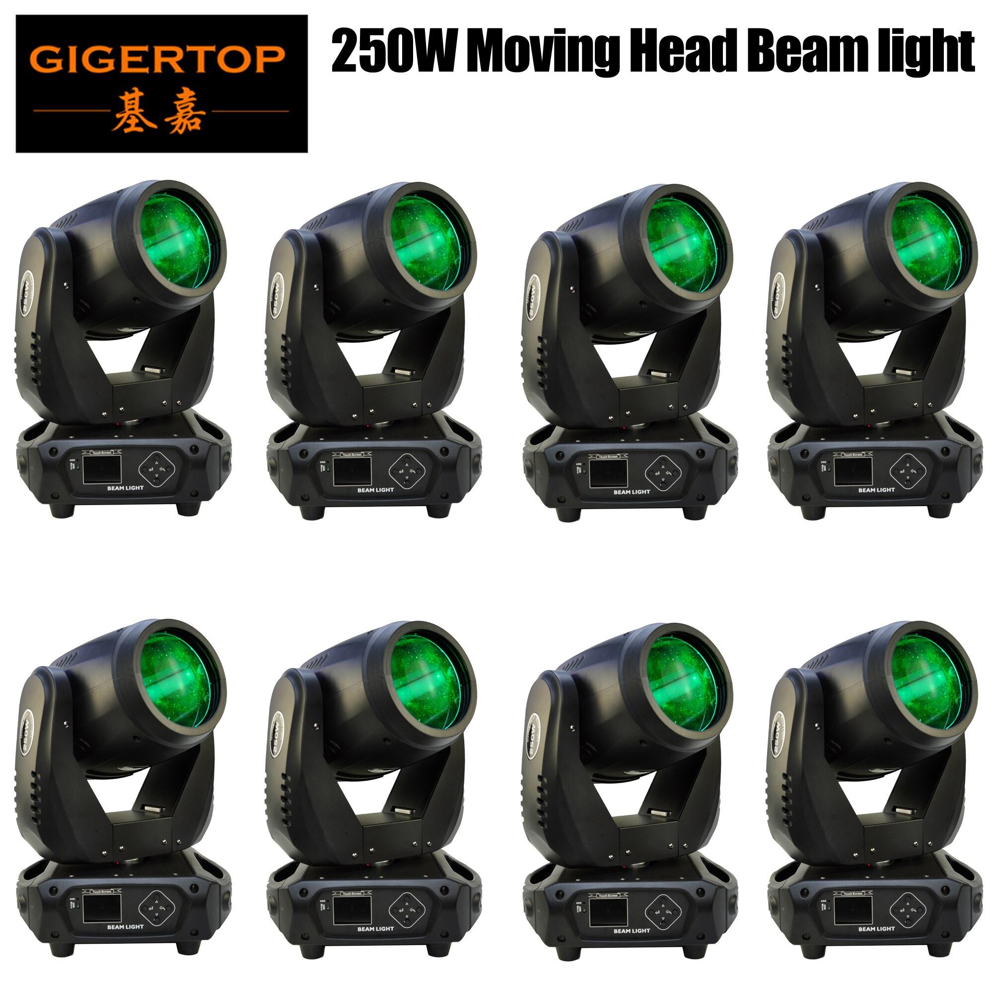 Fabricante 8 paquetes 250W haz de foco móvil Luz de foco para escenario gran Lyre Gobo prisma efecto giratorio para DJ discoteca Club teatro