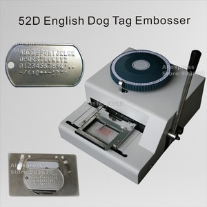 Factory Low Price 52Code letters Manual number stainless steel plate embossing machine Dog tag embosser