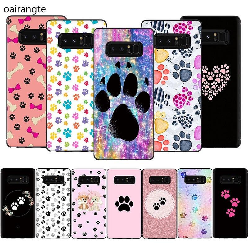 Funda blanda para teléfono con diseño de huella de perro para Samsung Galaxy A2 Core A6 7 8 9 2018 A10S 20S 20E 30S 40S 50S 60 70S