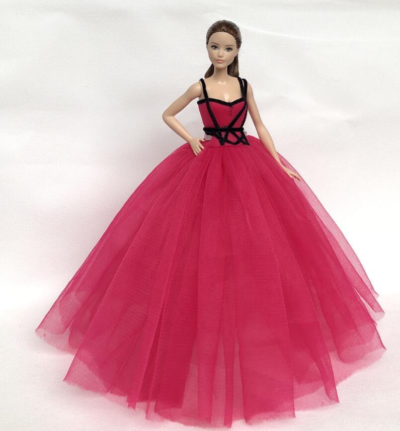 2016 bonecas uma variedade de lote original sexy para barbie boneca roupas de festa vestido menina acessórios cilios
