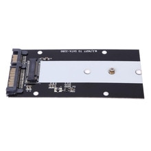 "B Anahtar M.2 NGFF SSD SATA 2.5 ""7 + 15 22 Pin Dönüştürücü Adaptör Kartı Ultrabook için için ADATA 2242 2260 2280 M.2"