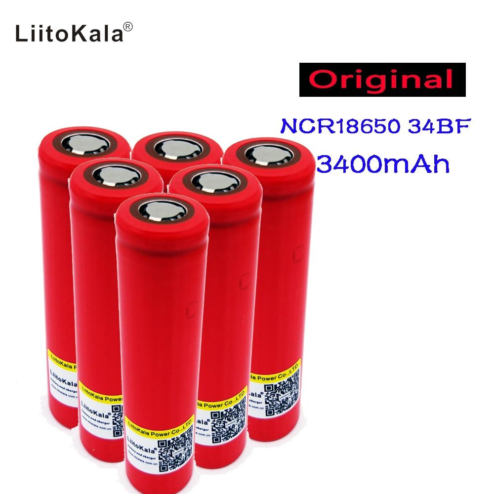 Nouveau original liitokala 3.7 V Sanyo 18650 3400 mAh NCR18650BF batterie rechargeable