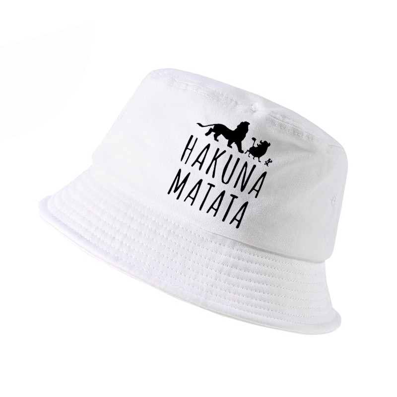 new k pop fashion HAKUNA MATATA hat Men women bucket outdoor hunting panama fishing cap