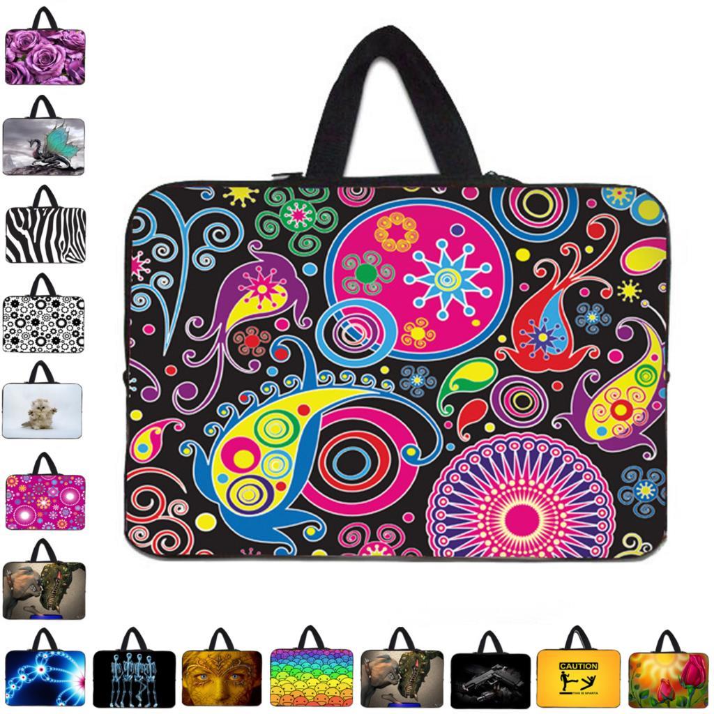 "Stylish Women's Handle Bag Laptop Sleeve 10 12 13"" 11.6 14 15 15.4 15.6 17 Funda Portatil Bolsas Neoprene Chromebook Pouch Case"
