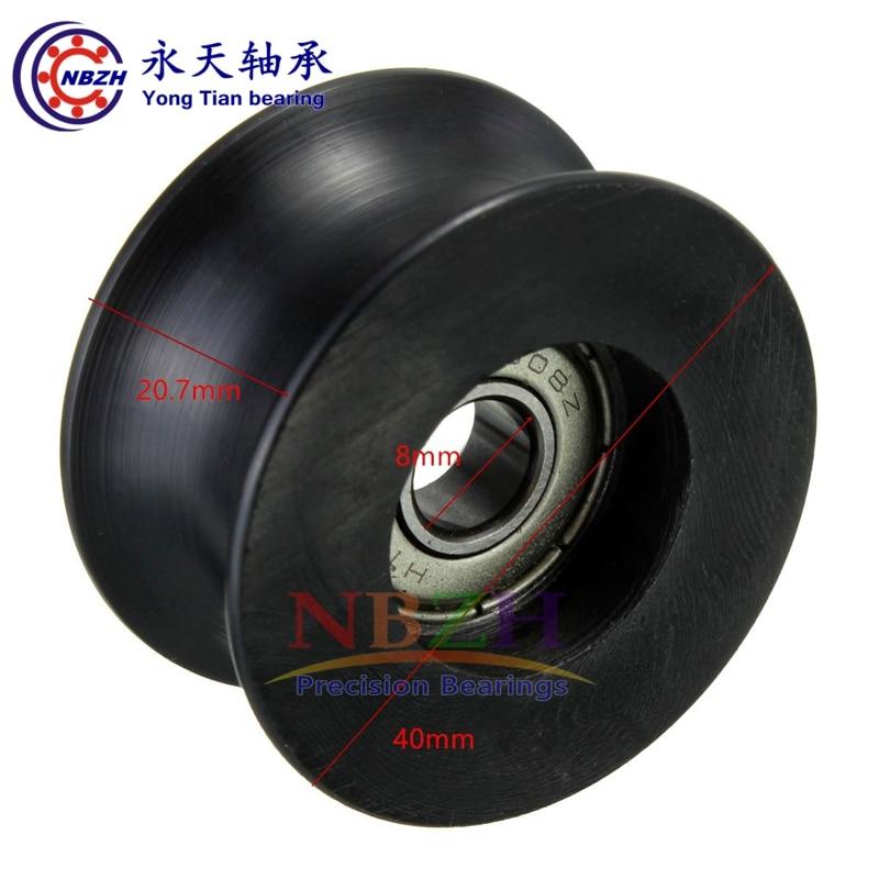 U groove ball bearing 0840UU BU0840 608ZZ 608Z 608 window and door bearing 8x40x20.7mm Guide Pulley Sealed Rail