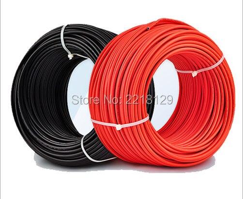 Boguang 1*5M 2.5mm ² rojo y negro solar PV cable para panel solar módulo celular casa estación solar kits DIY experimento marino RV barco