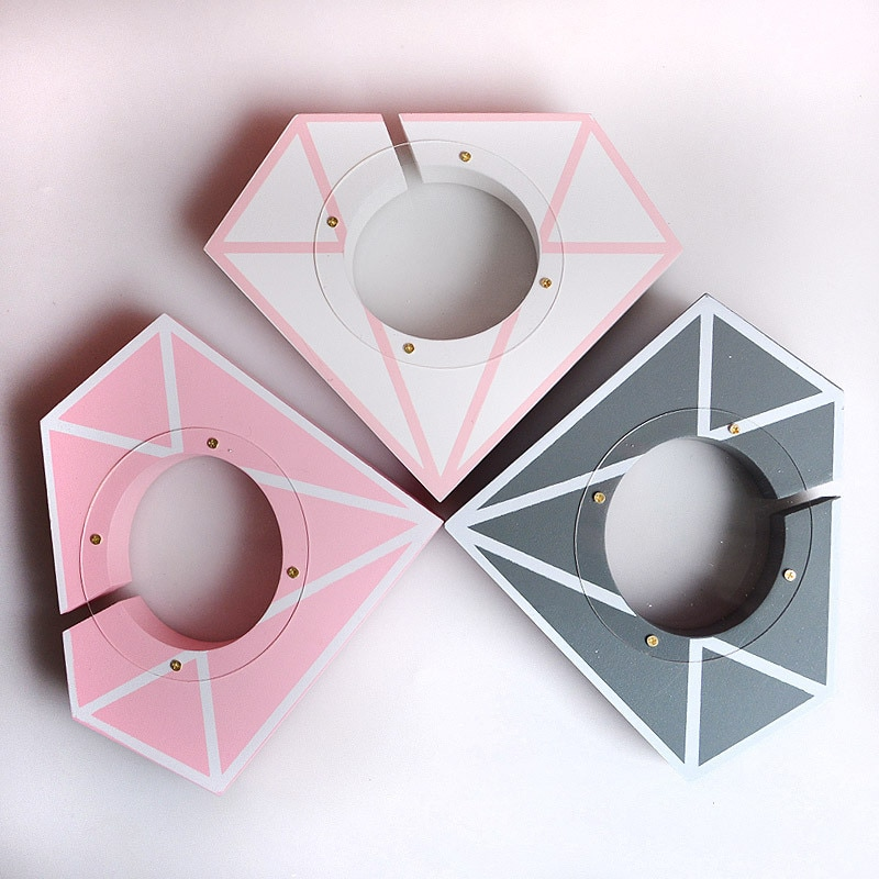 Wooden diamond shape piggy bank adult money box savings bank coin bank wooden savings box for birthday travel fund box