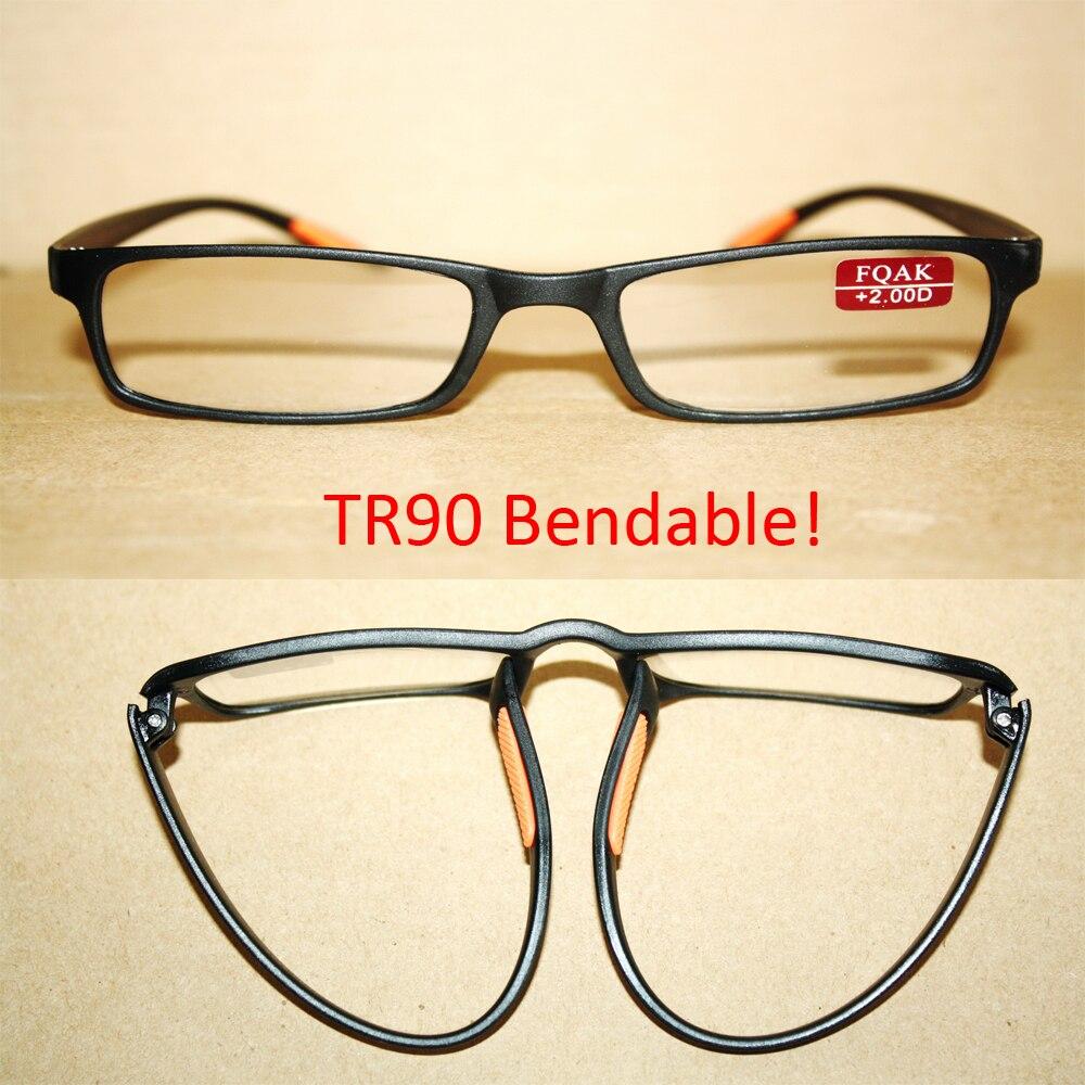 Dos gafas de lectura de moda antideslizables TR90 negro + 1,00 +. 1,50 + 2,00 + 2,50 + 3,00 + 3,50 + 4,00