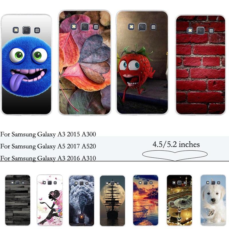 Funda para Samsung Glalaxy A3 2015 A300 funda blanda Fundas para Samsung A5 2017 A520F funda Capa para Samsung A5 2016 A510F