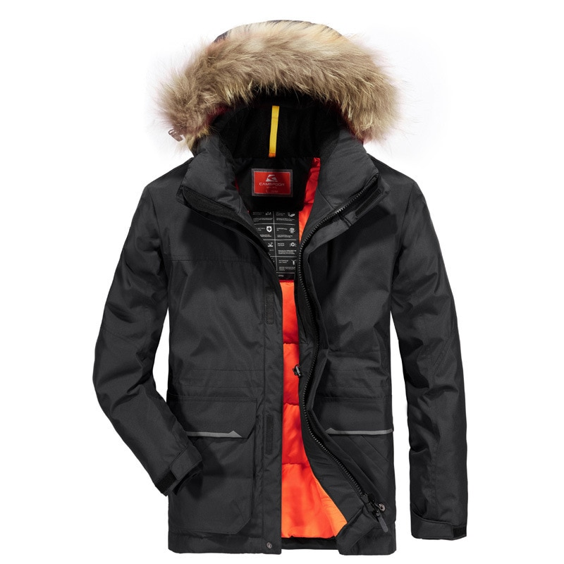 Parka acolchada de invierno para hombre, abrigo cálido, Parkas de piel de mapache desmontable para hombre, chaquetas gruesas de Alaska de talla grande