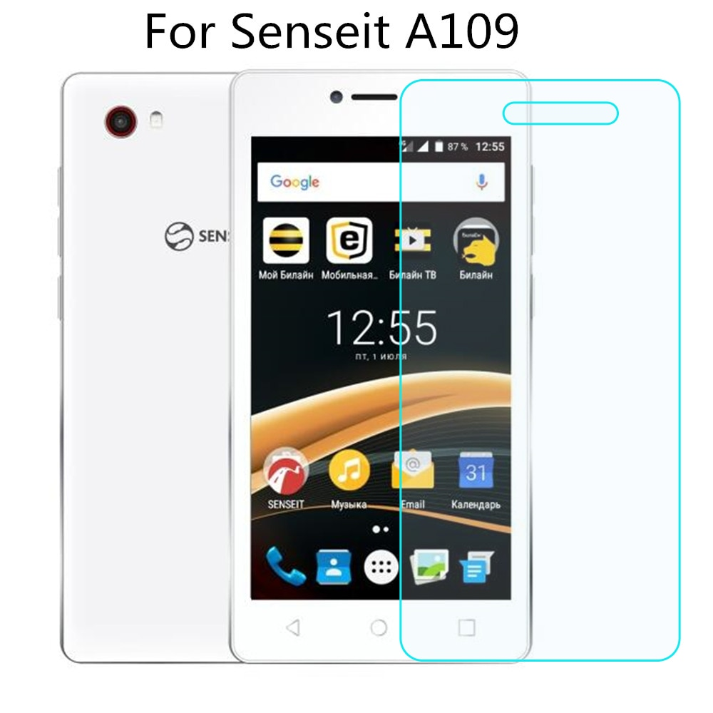 Vidrio templado para Senseit A109 Protector de pantalla 9 H 2.5D película protectora de teléfono para Senseit A109 Vidrio Templado