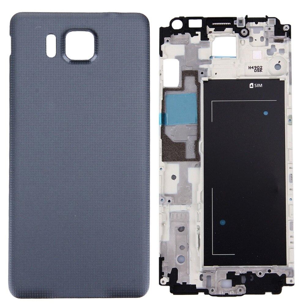 Reemplazo de cubierta de cobertura completa (reemplazo de la cubierta frontal del marco del LCD + reemplazo de la cubierta trasera de la batería) para Galaxy Alpha/G850