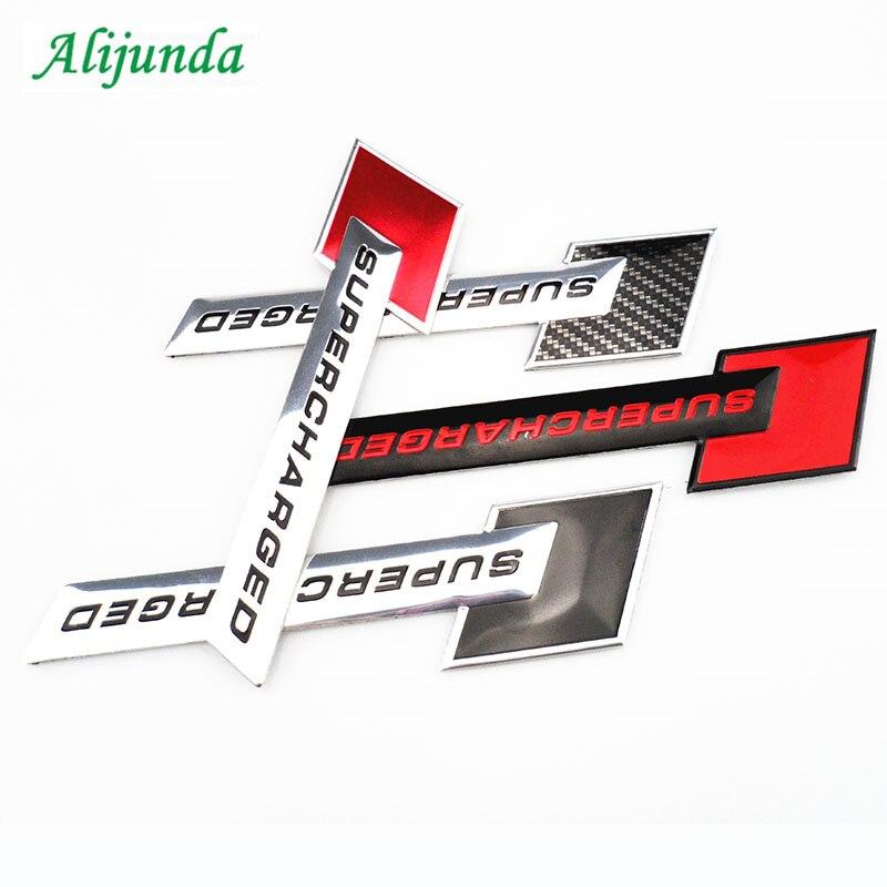 Etiqueta supercharged do emblema da forma do carro do piloto do metal 3d para audi bmw x-series 3-série 5-série 7-série e f-series