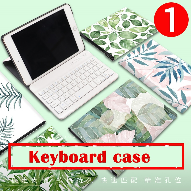 Imán de hoja Flip Cover para iPad Pro aire 10,5 Air2 Mini 1 2 3 4 2019 tableta Bluetooth funda para teclado para iPad 9,7 De 2017 a 2018
