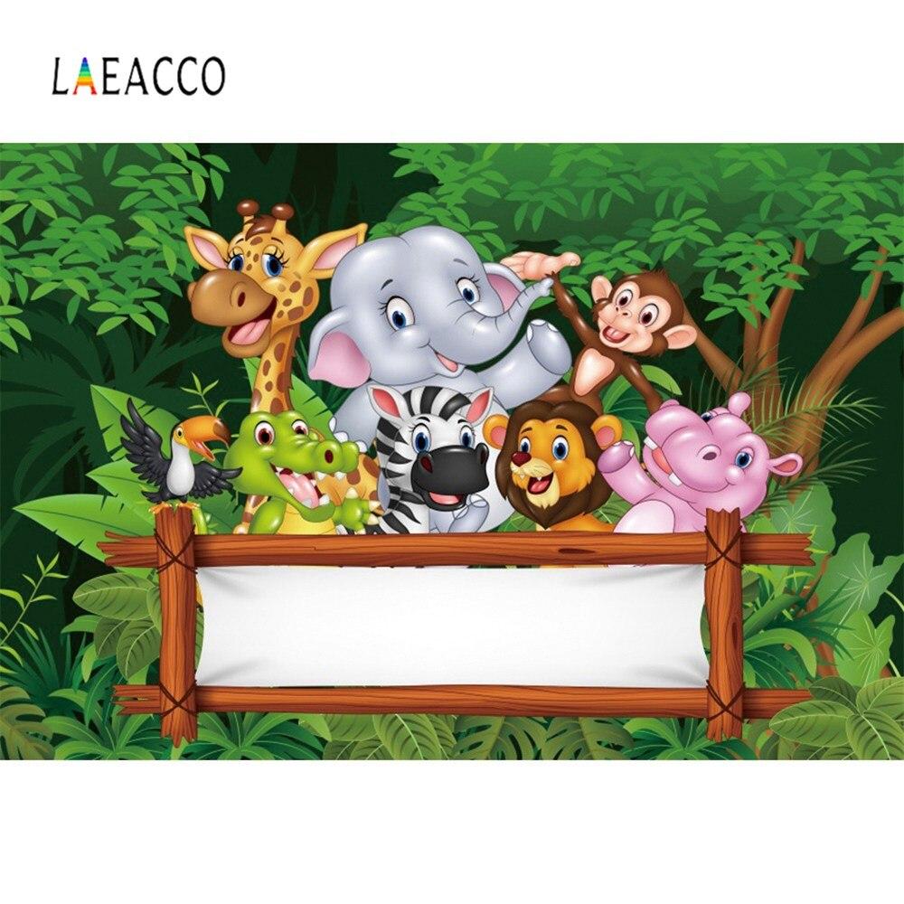Foto pano de fundo selva safari aniversário festa palavras personalizadas poster personalizado bebê retrato fotográfico fundo photocall