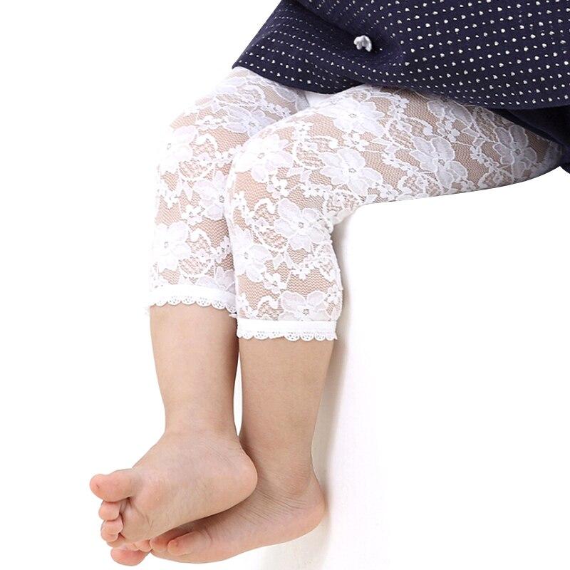Bebé niñas Leggings de encaje de verano Pantalones de los niños pantalones Getry Leginsy Bimba Estivi Leggins bebé Kiz Cocuk Tayt de Legin