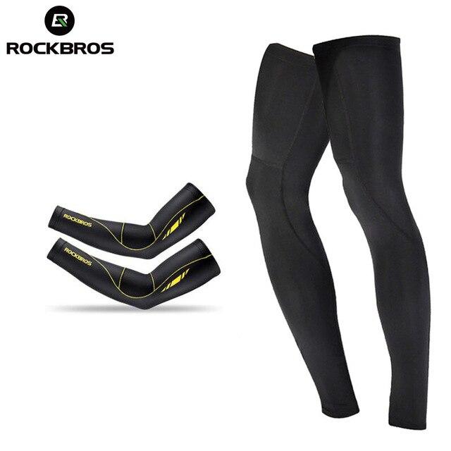 ROCKBROS-funda protectora para brazo de ciclismo, con protección UV para baloncesto y deportes, para hombre y mujer