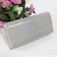 Nova prata diamante cristal cristal bolsa de embreagem bolsa festa baile casamento