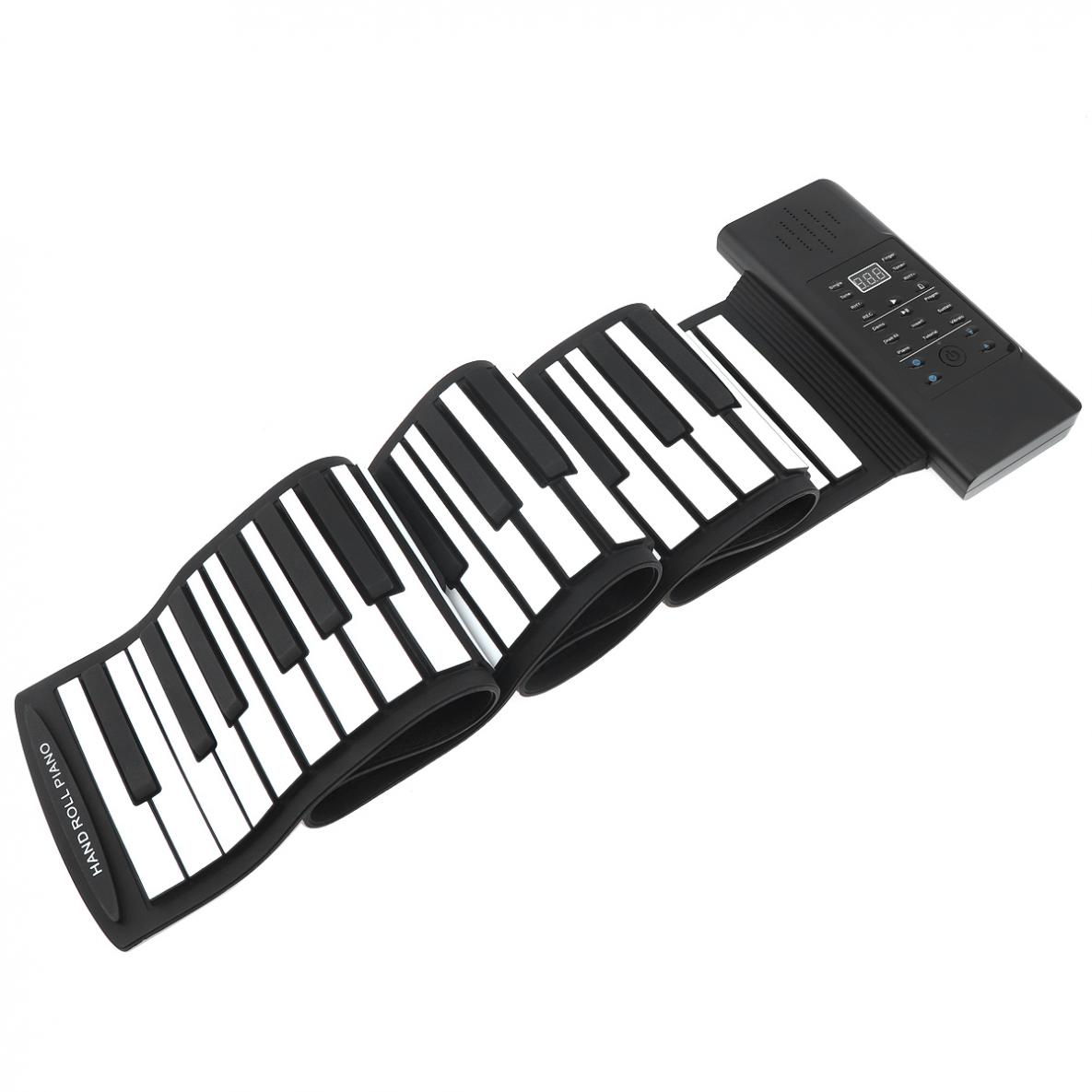88 Keys USB MIDI Output Roll Up Piano Rechargeable Electronic Flexible Keyboard Organ Built-in Speaker with Sustain Pedal enlarge
