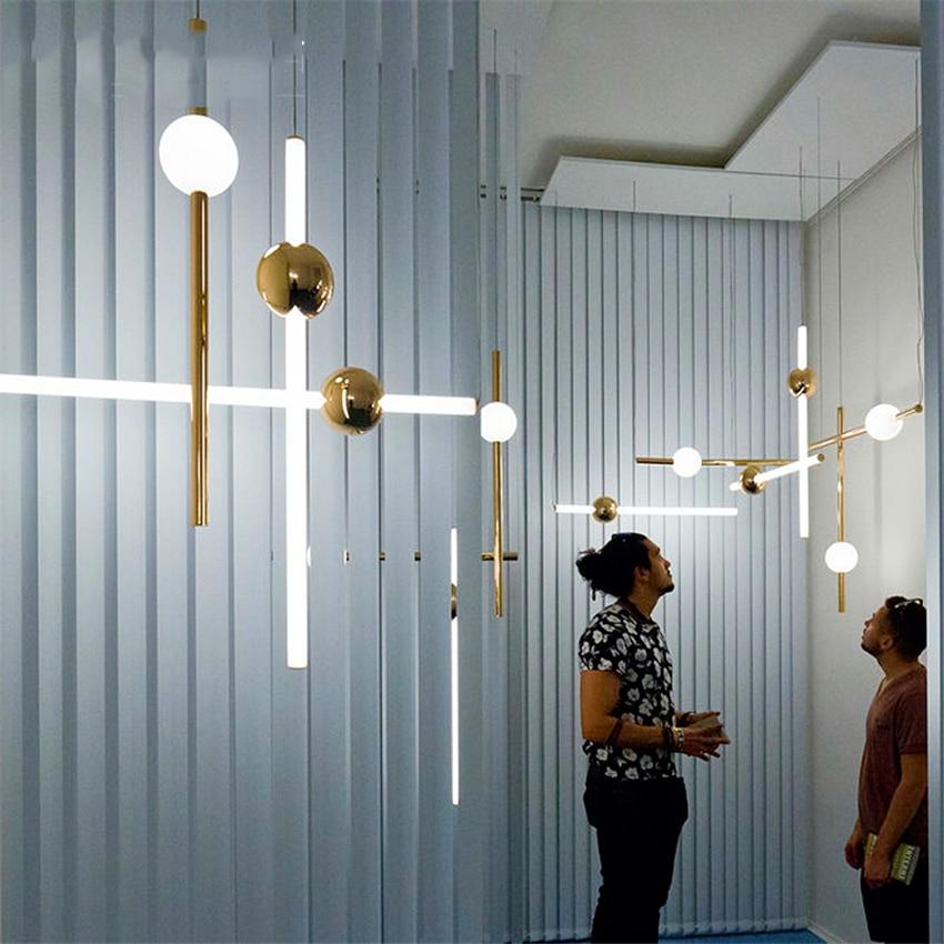 Lámparas colgantes de tubo Orion modernas para sala de estar, lámpara colgante dorada para dormitorio, cocina, hogar, decoración industrial, accesorios de iluminación
