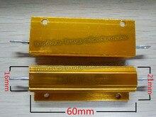 2 stks/partij 1R 2R 3R 4R 5R 6R 8R 10R 18R 24R 25R 2 Ohm 100 W Watt Draadgewonden Aluminium Power Metal Shell Case Weerstand Weerstand