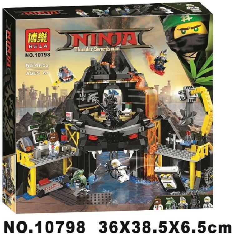 BELA 10798 Gamma volcano nest Ninjaoings Building Blocks Model Kits Compatible With  70631 Toys for Children