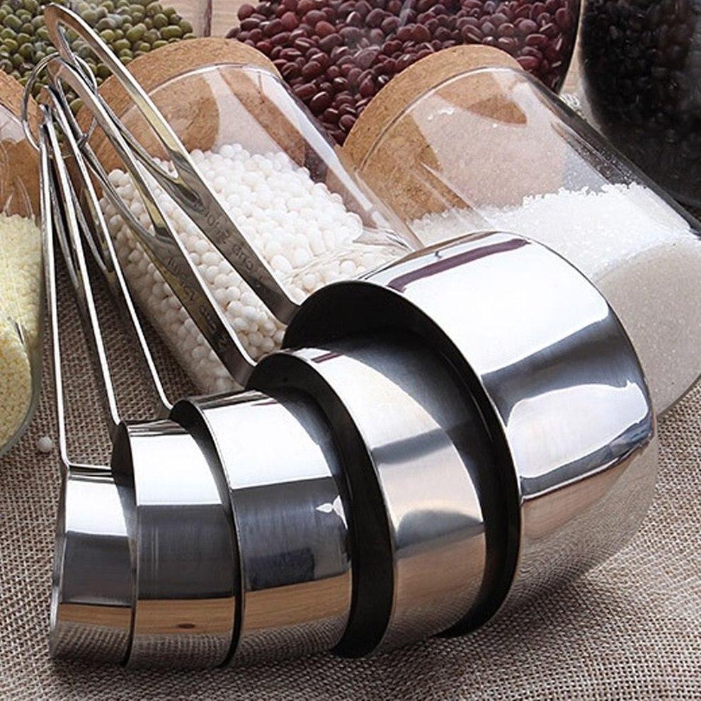 5 Sets von Backen Edelstahl Löffel Messlöffel Für Backen Tee Kaffee Kichen Zubehör Mess Werkzeug Set Dropshipping