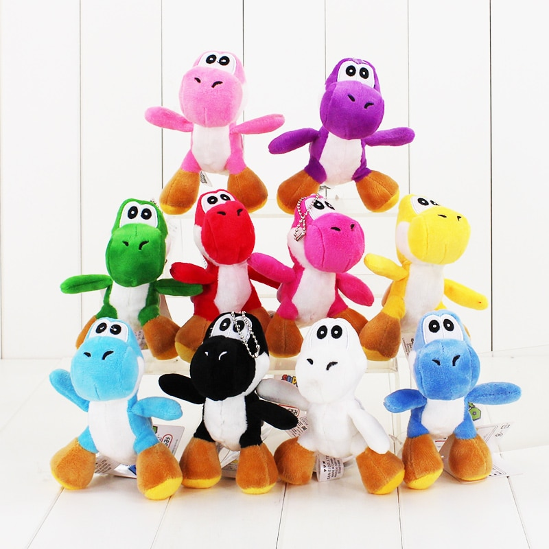 10 шт./лот 12 см Super Mario Bros Yoshi Dragon мягкая плюшевая игрушка кукла 10 цветов чучела брелок Подвески