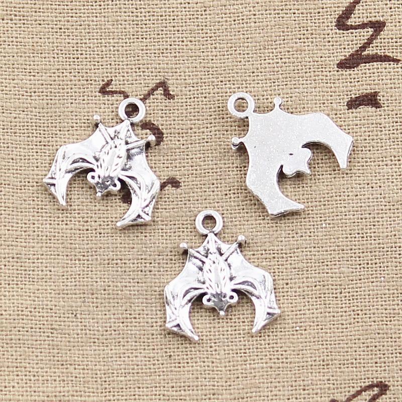 8pcs Charms Bat 20x17mm Antique Making Pendant fit,Vintage Tibetan Bronze Silver color,DIY Handmade Jewelry