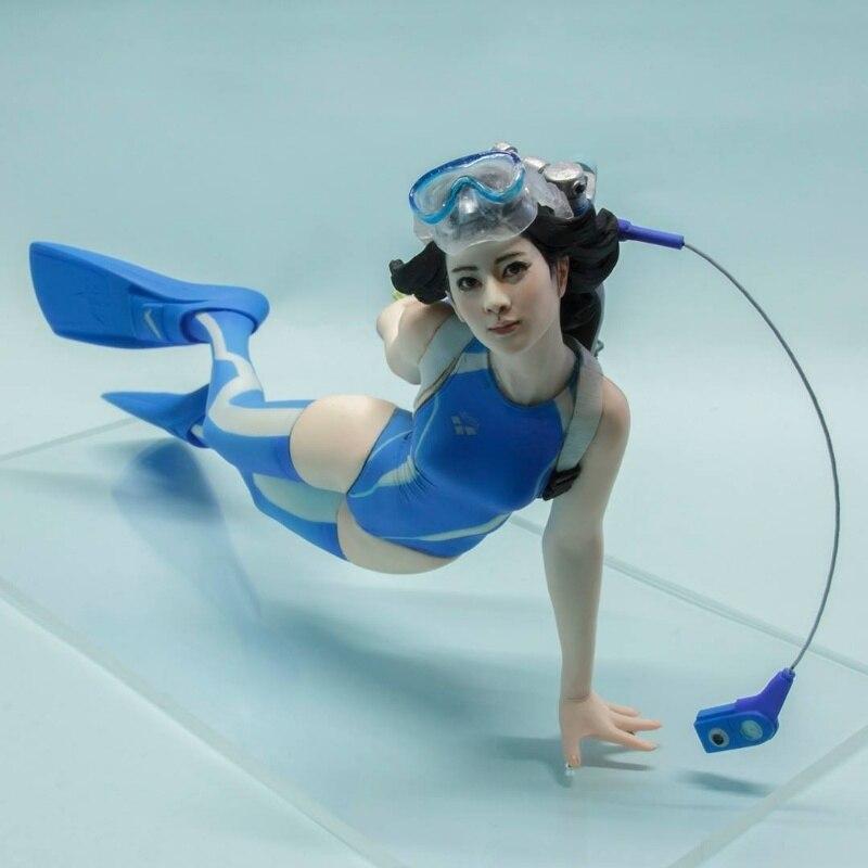 Kit de figuras de resina 1/10 buzo chica GK modelo Kit