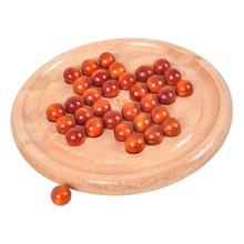 Clásico Peg Solitaire Solo Noble rompecabezas IQ mente cerebro rompecabezas de madera juego juguetes para adultos niños juegos de mesa para adultos