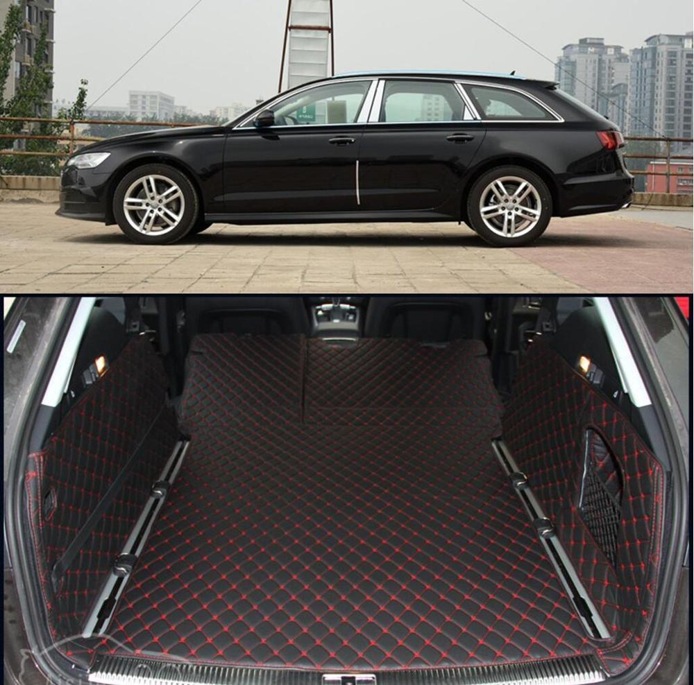 fiber leather car trunk mat for audi a6 2011 2012 2013 2014 2015 2016 2017 allroad avant a6 c7 car accessories